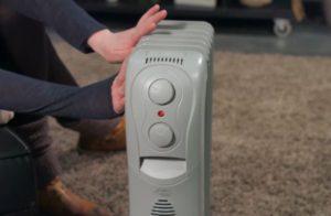 radiateur bain d'huile avec thermostat